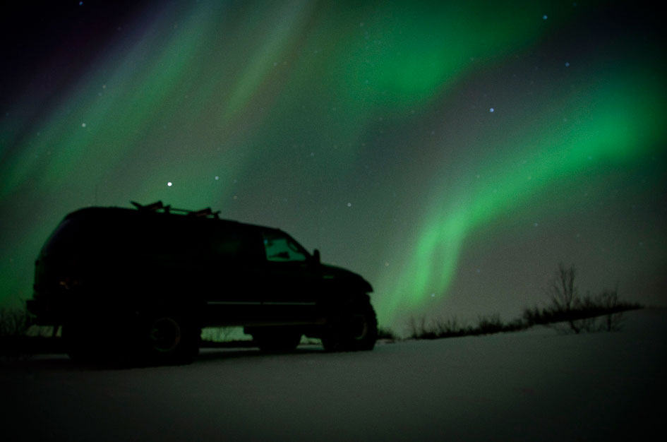 A Night view of Iceland